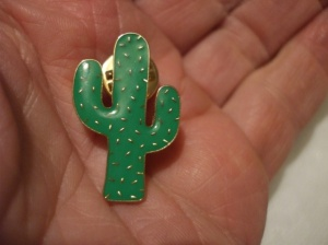 Cactus pin badge/broach.